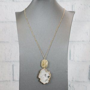 NWT Wish Natural Stone Necklace
